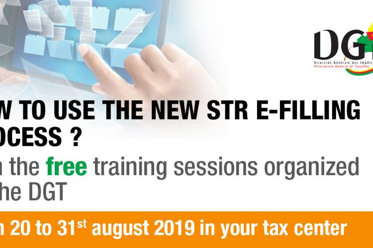 Taxpayer training Sessions on the STR e-filling process
